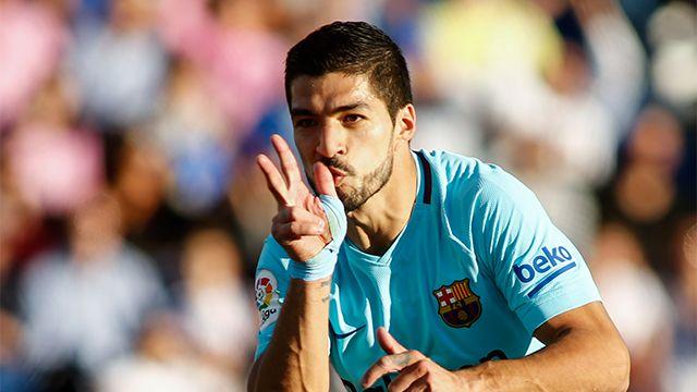 Suárez es el jugador de Barcelona que llegó más rápido a 100 goles en Liga