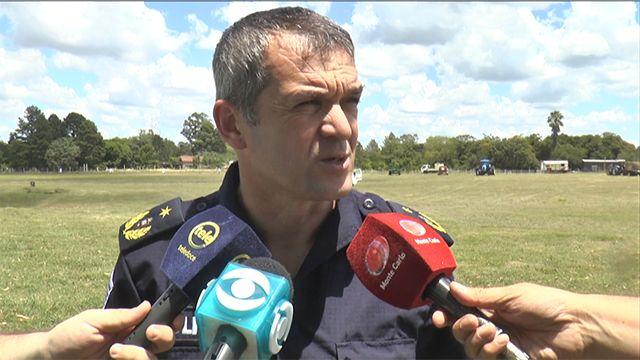Operativo especial de la Policía y de Tránsito por el acto en Durazno