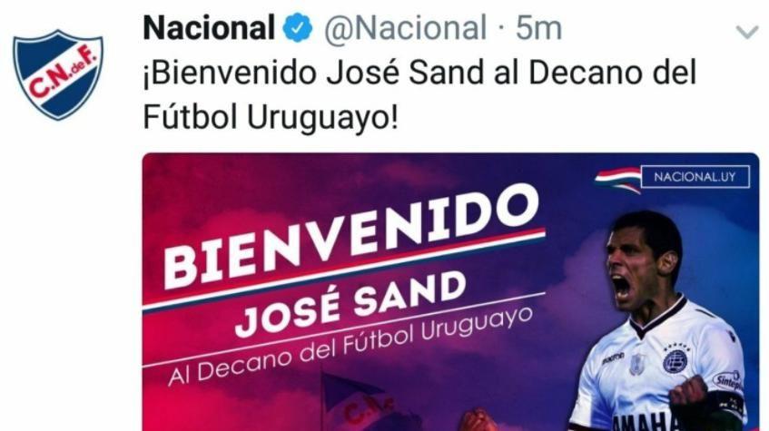 Nacional anunció la llegada de Sand y cinco minutos después lo borró