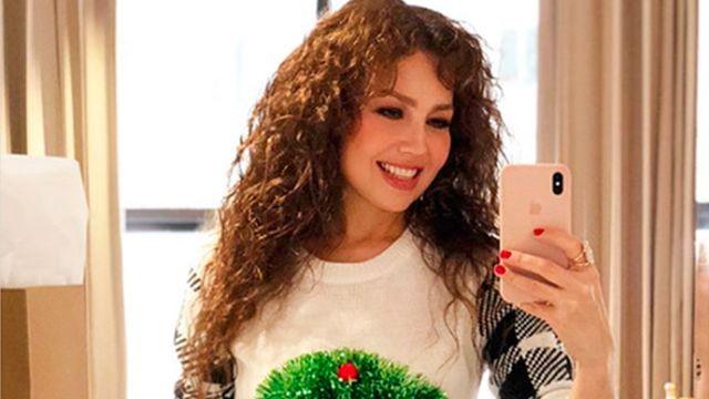 Fans sorprendidos por el nuevo rostro de Thalia en video navideño