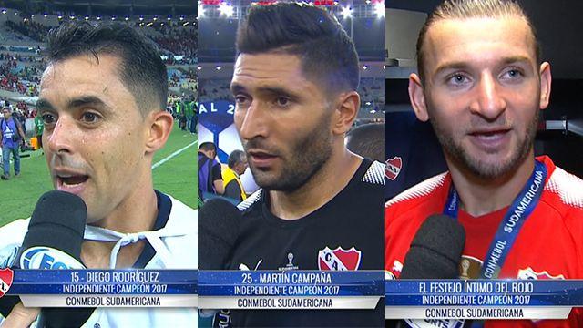 Los uruguayos campeones de la Sudamericana con Independiente