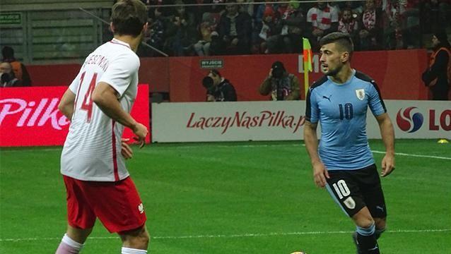 Uruguay y Polonia empataron 0-0 en Varsovia