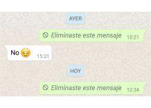Este truco permite borrar mensajes de WhatsApp después de los 7 minutos