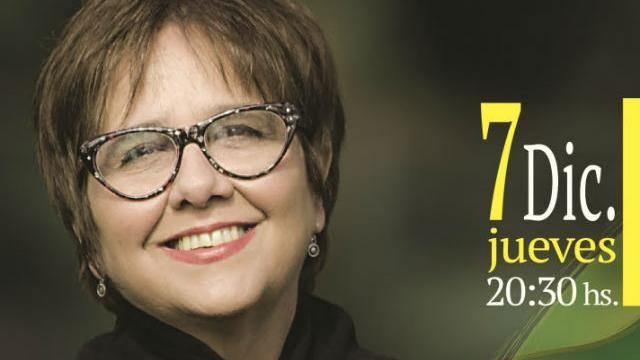 Este jueves Laura Canoura en el Auditorio Nacional del Sodre