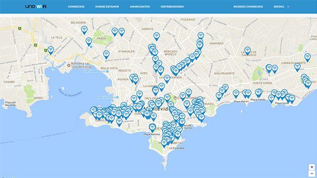 Montevideo tiene 75 puntos de internet gratis y serán 100 a fin de año