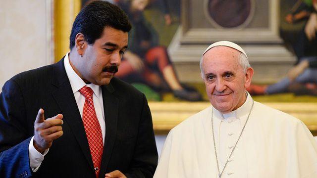 Maduro pide al Papa intervención para evitar que haya niños en protestas