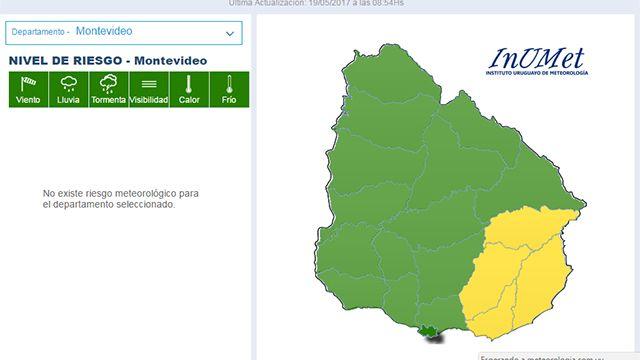 Baja alerta de Meteorología: advertencia de nivel amarillo solo en el Este