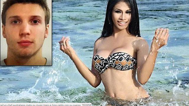 Chef australiano mató a su novia trans e hizo caldo con parte del cuerpo