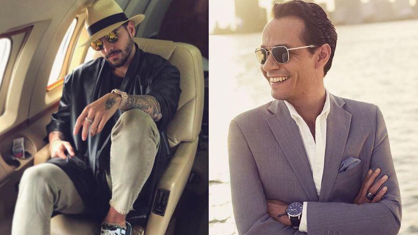 El beso de Marc Anthony a Maluma causó gran revuelo en las redes sociales
