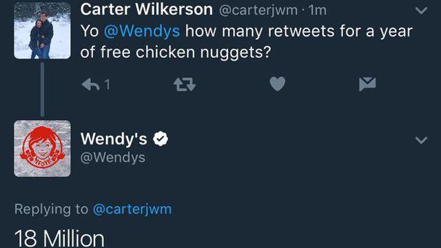 El tuit más retuiteado de la historia: pedido de nuggets gratis por un año