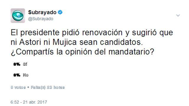 PREGUNTA DEL DÍA: ¿Astori y Mujica deben o no ser candidatos?