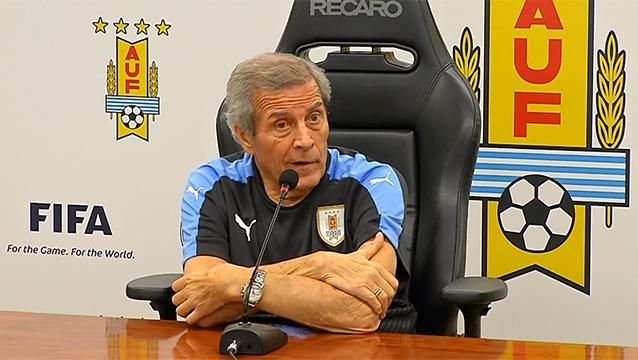 """""""No hay partido más motivante para nosotros que este"""", dijo Tabárez"""