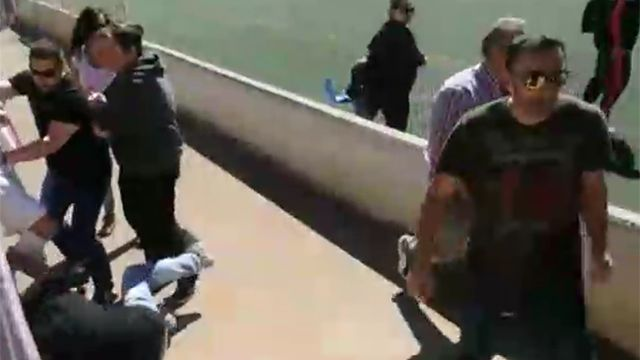 Vergonzosa pelea de padres en el fútbol infantil de España