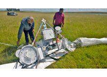 Un globo de Google cayó en un campo de Tacuarembó