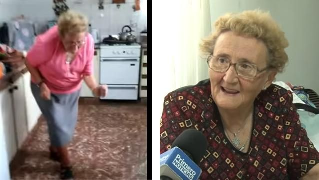 "VIDEO: ""Chispita"" Rossi, la abuela que se volvió viral bailando cumbia"