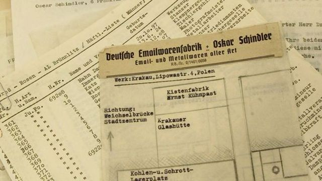 A la venta una de las listas de Schindler por 2.5 millones de dólares
