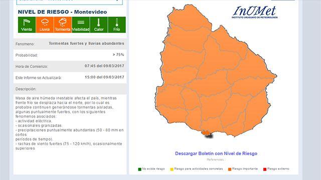 Meteorología amplia el alerta naranja a todo el país