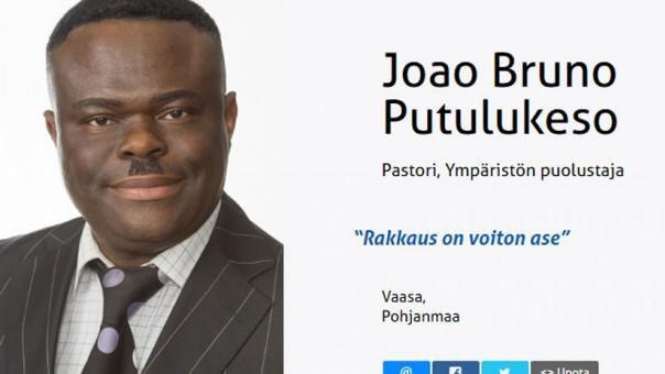Partido de Finlandia acusado de racista ficha al Hitler negro Putulukeso