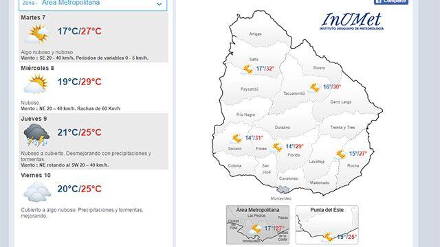 Temperatura máxima de 27° para este martes; no hay pronóstico de lluvias