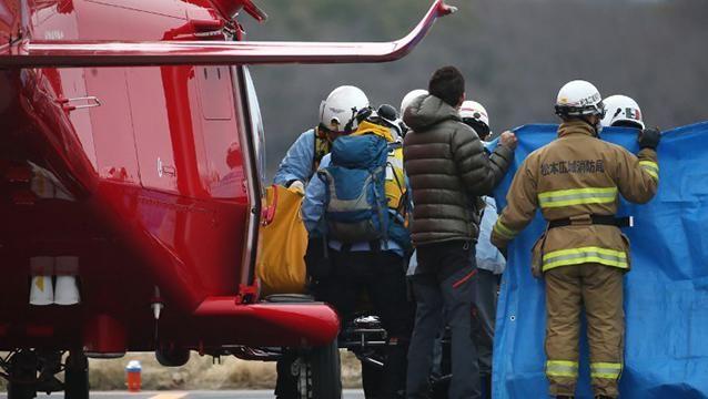 Nueve muertos al estrellarse helicóptero en ejercicio de rescate en Japón
