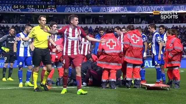 Impactante golpe del Niño Torres: se lo llevaron inconsciente del estadio