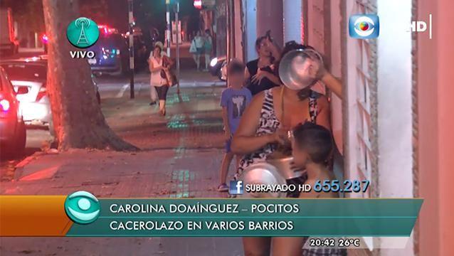 Caceroleos en algunas zonas mientras Vázquez habla en cadena nacional
