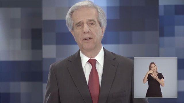En cadena de radio y TV Tabaré Vázquez hará balance de 2 años de gestión