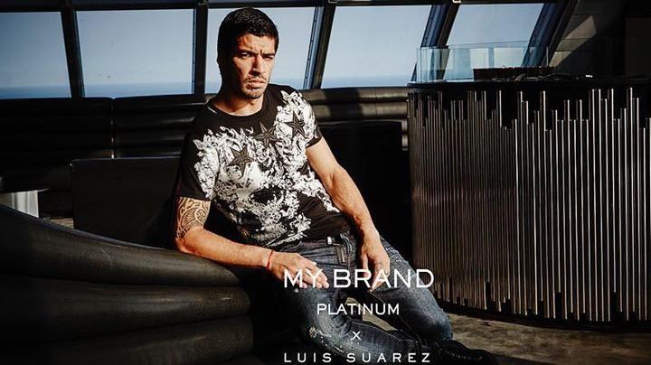 Otra cara del Pistolero: Luis Suárez modelo de línea de ropa de My Brand