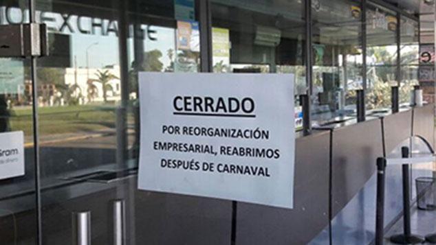 Preocupación en clientes por cierre sorpresivo de casa de cambio