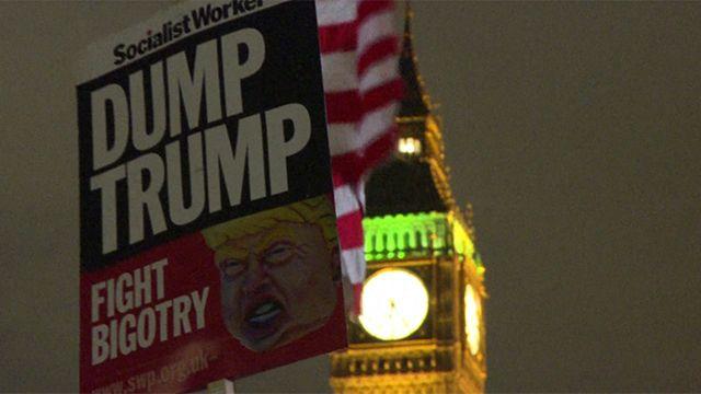 Manifestación en Londres contra visita de Donald Trump