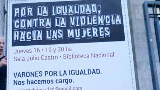 """Hombres se reúnen convocados para """"hacerse cargo"""" de la violencia de género"""