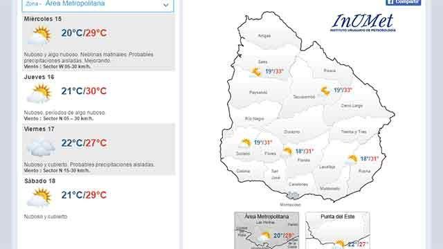 Probables precipitaciones aisladas, mejorando por la tarde