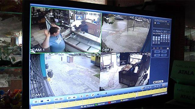 A plena tarde, delincuentes armados robaron un bar en menos de 1 minuto