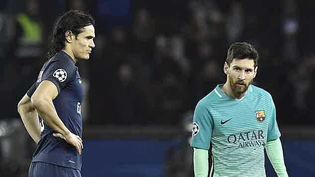 Cavani anotó en la goleada del PSG 4-0 a Barcelona por Champions