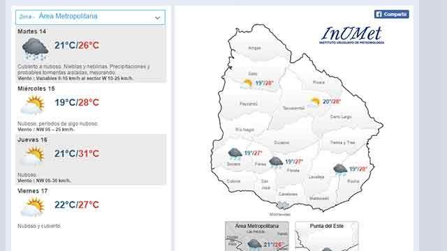 Nuboso, con lluvias aisladas, mejorando en la tarde