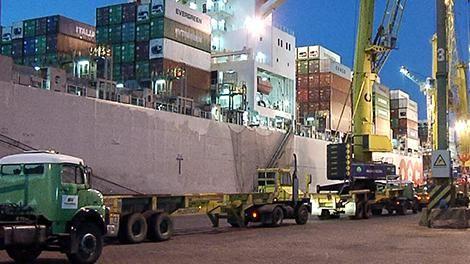 Robaron una máquina de 16.000 kilos del Puerto en pleno mediodía