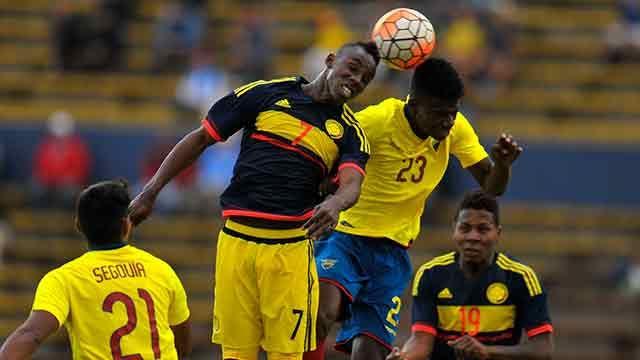 Ecuador goleó 3-0 a Colombia y queda al filo del Mundial Sub-20