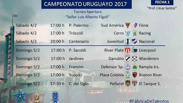 Así se juega la primera fecha del Apertura, se adelantó Peñarol-El Tanque