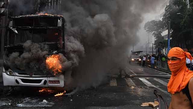 Violentas protestas en Río de Janeiro contra las medidas de austeridad