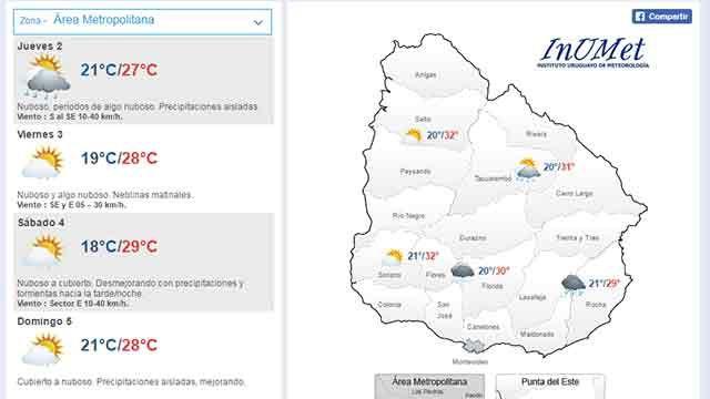 Cesó alerta meteorológico pero persiste la lluvia en el sur y este del país