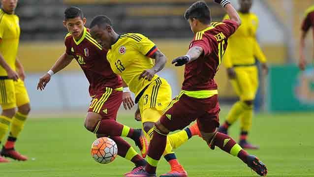 Venezuela y Colombia empataron 1-1 en el hexagonal final Sub-20