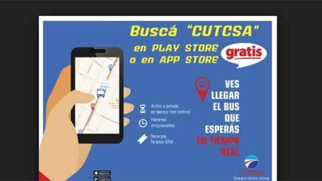 La app para celulares de Cutcsa permite a usuarios enviar fotos y denuncias