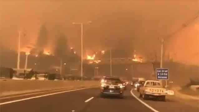 Detienen a siete sospechosos de provocar los incendios forestales en Chile