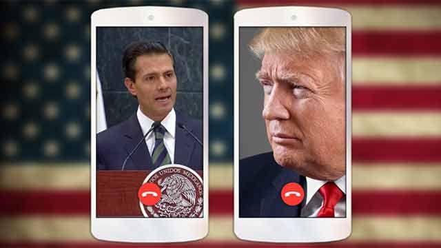 Tras la polémica pública, Trump y Peña Nieto hablaron por teléfono