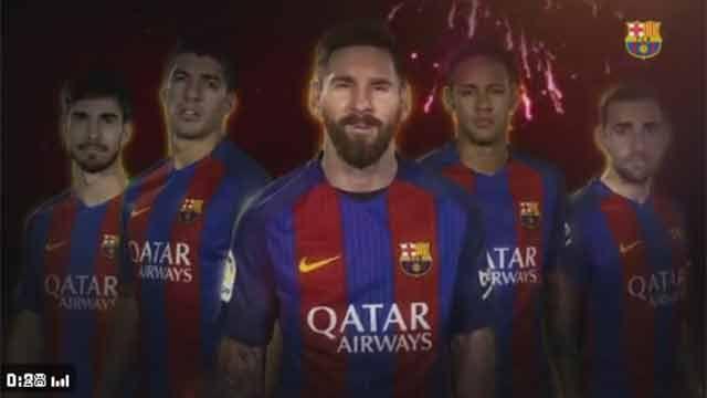 Video: Suárez, Messi y Neymar saludan en chino por el Año Nuevo