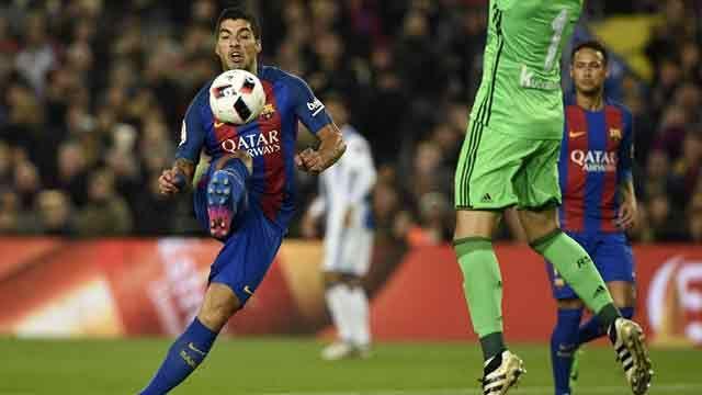 Mirá el gol de Luis Suárez para el 5-2 del Barça a la Real Sociedad