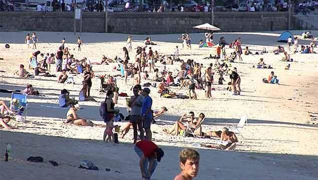 Domingo de playa, con altas sensaciones térmicas
