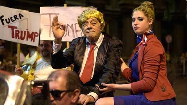 Donald Trump participó del desfile inaugural del Carnaval uruguayo