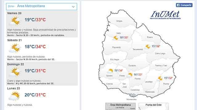 Baja probabilidad de lluvias para este viernes, advierte Meteorología