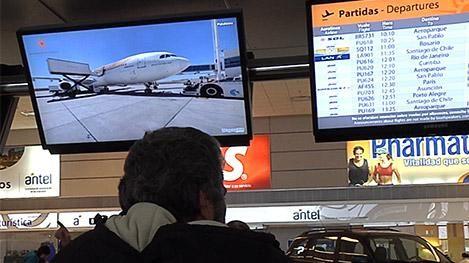 Viajes al exterior de los uruguayos se redujeron 22% en 2016